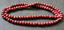 RED SANDALWOOD UN KNOTTED JAPA MALA ROSARY BEADS BUDDHA YOGA MEDITATION PRAYER