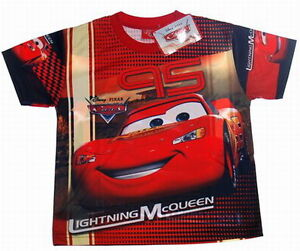 TRES-JOLI-TEE-SHIRT-DISNEY-CARS-MCQUEEN-9-10-ans-XL-QUALITE-imprime-2-faces