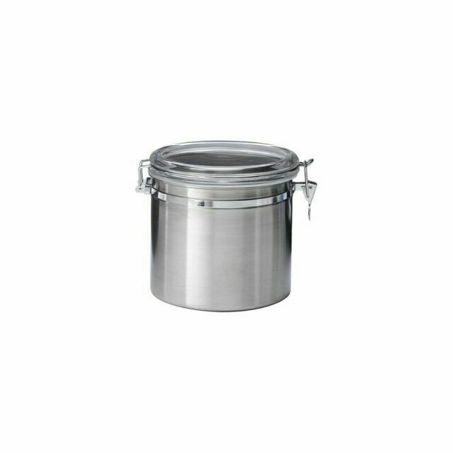 Oggi Stainless Steel Airtight Canister With Clear Arylic Lid And Locking Clamp For Sale Online Ebay