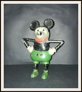 Disney-Mickey-Mouse-francese-Cast-Alluminio-Bank-Anni-1930-DISNEYANA-INFORMATION-TECHNOLOGY