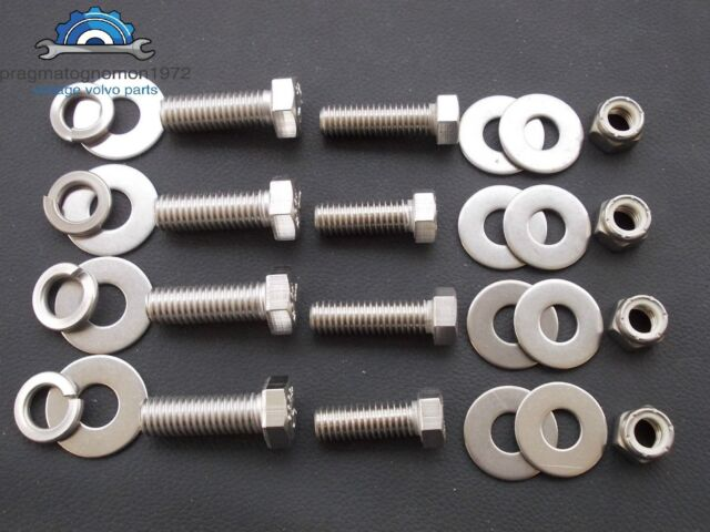 VOLVO AMAZON 121 122 FRONT+REAR BUMPERS INSTALLATION BOLT KIT STAINLESS STEEL!!