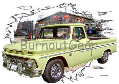 1950 Orange Pickup Truck a Custom Hot Rod USAT T-Shirt 50 Muscle Car Tees