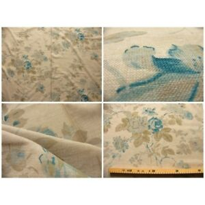 Coupon-fabric-by-50cm-blue-flower-manon-chambray