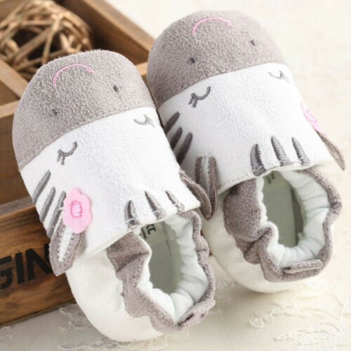Newborn Baby Boy Girl Kid Cartoon Soft Cotton Crib Shoes Anti-slip Sneakers Good
