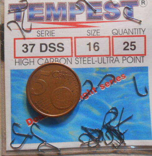 1 CONFEZIONE DI AMI TEMPEST DA 25 PEZZI SERIE 37DSS  N°16 OFFERTA PESCA  FC.AB86
