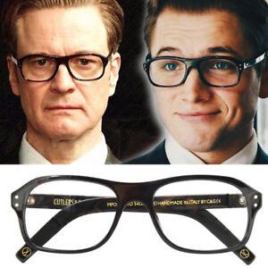 Kingsman The Circle 2 Eggsy Glasses Golden Cosplay Eyeglasses trr15Hwq