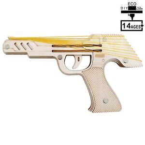 Rubber-Band-Wood-Gun-Pistol-Model-Mechanical-Wooden-3D-Puzzle-Self-Assembly-D