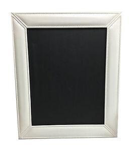 16X20 Leather Photo Frame White Glossy SET OF 2 FRAMES