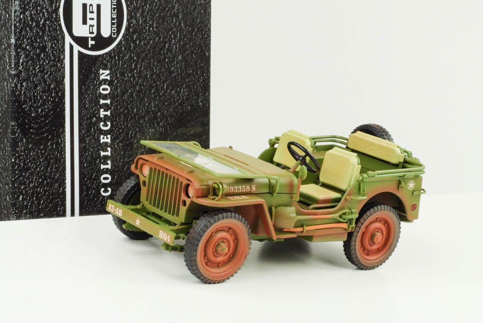 1942 JEEP WILLYS US ARMY Rough Terrain Muddy vert 1 1 1 18 Triple 9 23251a