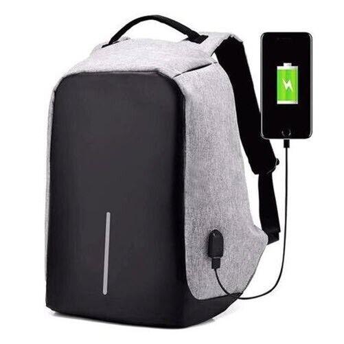 Anti-theft Unisex USB Charging Backpack Laptop Notebook Travel School Bag/&Wallet