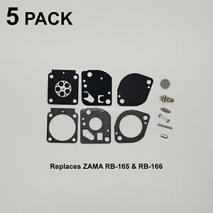 5x-Replaces-ZAMA-RB-165-RB-166-Carb-Rebuild-Kit-For-STIHL-BR350-BR500-BR600