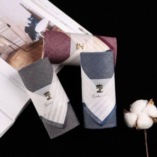 100/% Cotton Popular Classic Stripe Vintage Pocket Plaid Men Square Handkerchiefs