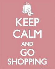 Keep Calm and Go Shopping - Mini Poster 40cm x 50cm (new & sealed)