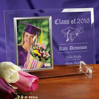 Personalized Graduation Picture Frame Engraved Glass Photo Frame Graduation