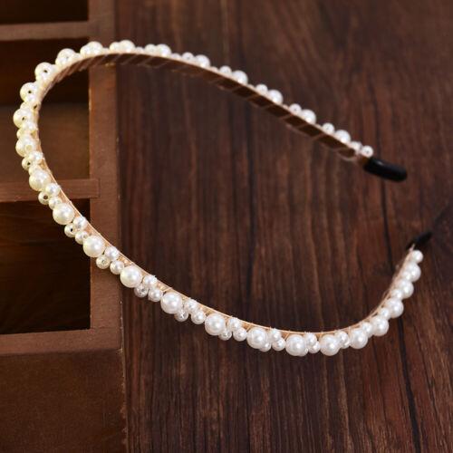 Fashion Women Pearl Bow Headband Hairband Hair Band Hoop Hair Accessories Gift