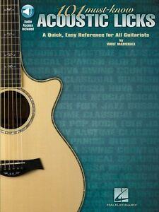 101 Must-know Acoustic Lèche-une Référence Rapide Pour Tous Les Guitaristes 000696045-afficher Le Titre D'origine