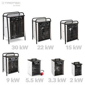 TROTEC-Elektroheizer-Heizgeraet-Heizluefter-Heizung-Zeltheizer-Bauheizer-Bauluefter