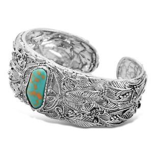 Vintage-Women-Boho-Bohemia-Turquoise-Open-Bracelet-Cuff-Bangle-Jewelry-Gifts-US