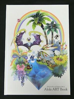 Pokemon Ultra Sun Moon Alola Art Book Pokemon Center Artbook Clear File Rare