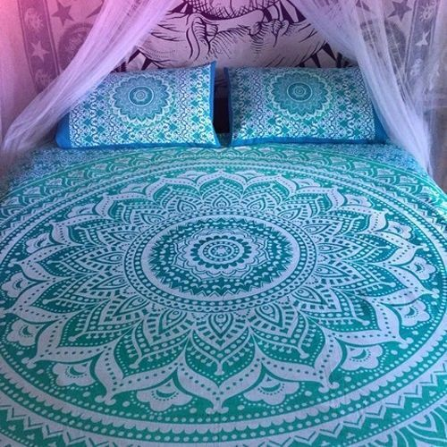 Indian Mandala Hippie Bohemian Queen Size Duvet women Cover Set Quilt Covers Art