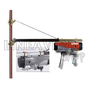 Paranco elettrico 300 600 kg argano verricello for Paranco elettrico con supporto a bandiera