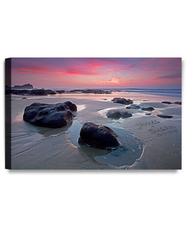 Personalized Canvas Print love on Beach Wall art Gift ready to hang DecorArts