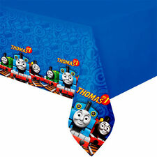 Thomas the Tank Engine Birthday Party Plastic Tablecloth Boys Blue Trains Table