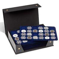 Us Silver Morgan Coin Box Folder Lighthouse Tablo Storage Case W/ 10 Trays Free