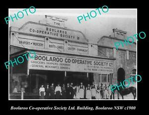 OLD-POSTCARD-SIZE-PHOTO-OF-BOOLAROO-CO-OP-STORE-BOOLAROO-NSW-c1900