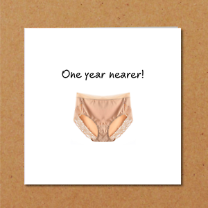 prevalent hot-selling fashion innovative design Details about Funny Birthday Card wife girl friend female BFF bestie big  pants knickers