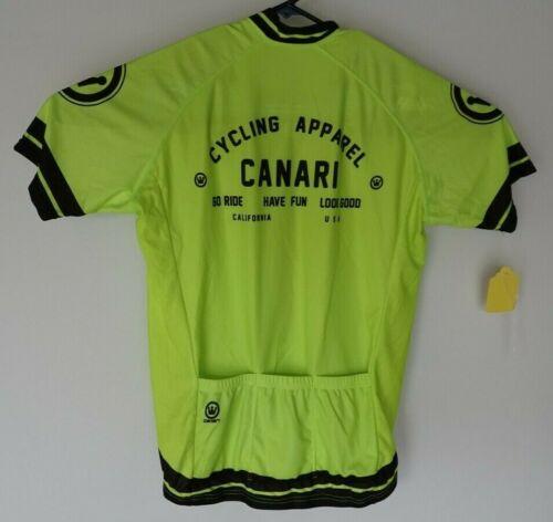 Nouveau Canari Maillot De Cyclisme Taille L avec Poches couleur jaune fluo