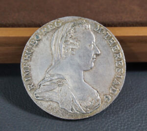 1780-Maria-Theresia-Thaler-Taler-Austria-Silver-Coin-Coat-Arms-Guenzburg-Strike