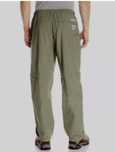COLUMBIA Men s Fishing Pants Convertible Size L x 32 Onmi-Shade UPF ... 530f68adcec5f