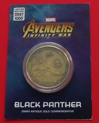 Marvel Avengers Infinity War Limited Edition coins LIMITED EDITION