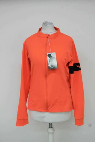 RAPHA femme rose corail à manches longues tractability Thermal Cycle Jersey XL BNWT