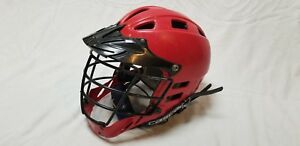 Cascade-Red-CPV-SPR-Fit-Lacrosse-Adjustable-Helmet-S-M-With-Chin-Strap