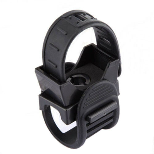 Clamp Bicycle Headlight Bracket Rubber Torch Lamp Holder 360 Degree Rotation