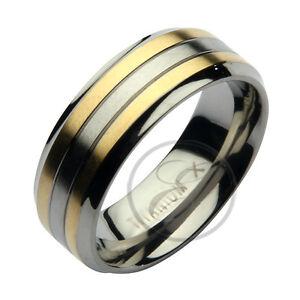Jewelry & Watches Humble Titanium Black Two-tone 8 Mm Polished Wedding Band