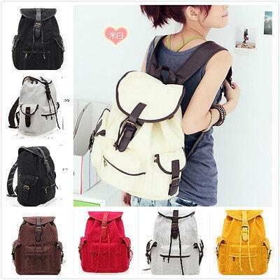 Women's Gilrs Shoulders Bag Canvas Travel Backpack School bag Camp Travel bags