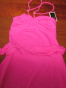 bed568613485d NWT $94 JUICY COUTURE bathing suit COVER-UP pink belted Ana Capri ...