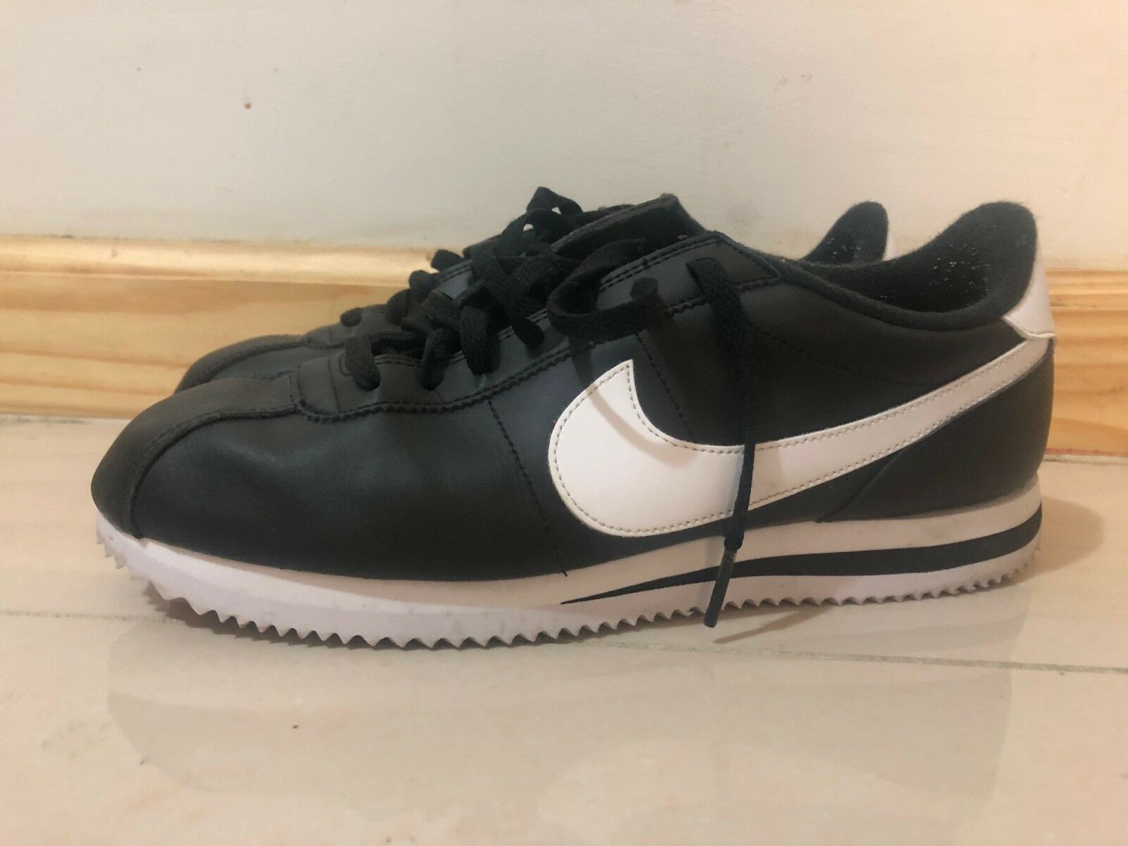 Nike Cortez Size 9.5 black and white brand new