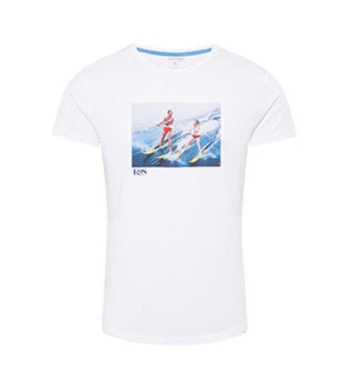 Orlebar Braun Fathers Day Water Skiing T-shirt Weiß XS New