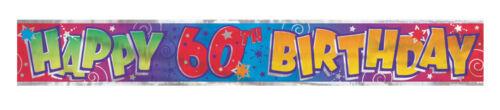Joyeux Anniversaire Plastique Feuille Célébration Bannière Fête Chambre Décoration 18th 60th