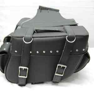 Motorcycle Motorbike Leather Saddle Bag Tool Role Pannier Luggage For Bikers