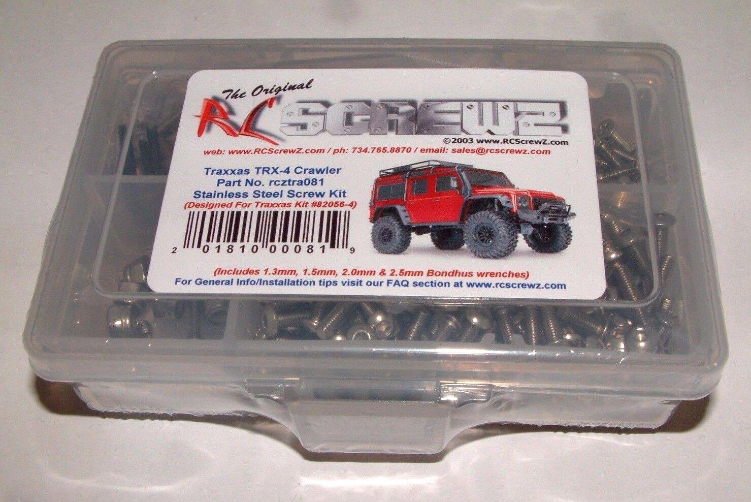 TRAXXAS TRX-4 RC SCREWZ STAINLESS STEEL SCREW SET TRA081