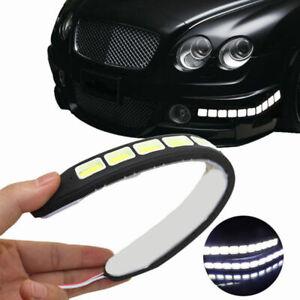2x-20W-Waterproof-LED-12V-Daytime-Running-Light-DRL-COB-Strip-Lamp-Fog-Car-Auto