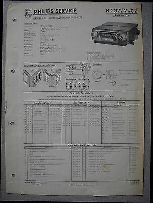 Tv, Video & Audio Logisch Philips Nd372v-02 Autoradio Service Manual Ausgabe 09/58