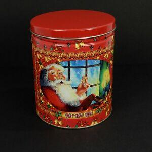 Maurice Lenell Christmas Tin Santa Claus Bells Poinsettia Vacances Bidon Vide-afficher Le Titre D'origine 2a7mhgdv-08003540-493485099