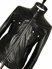 MENS TOMMY HILFIGER LUXURY SOFT 100% LEATHER BIKER BOMBER JACKET COAT 44R