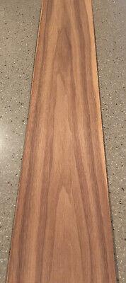 "5 Sheets Curly Walnut Wood Veneer 42"" X 7"" 10Sq Ft"